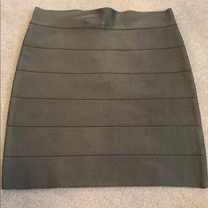 Olive green bandage skirt